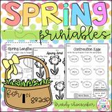 Spring Printables for First Grade