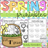 Spring Printables for First Grade