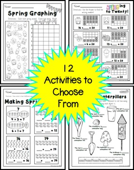 Spring Printables for 1st Grade FREE (Math)