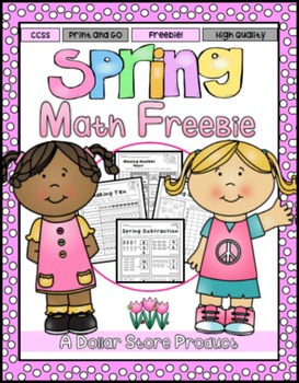Spring Printables for Kinders FREE (Math)