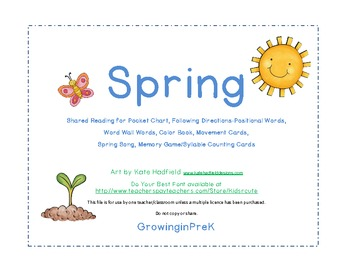 Spring Printables for Pre-K or Kindergarten