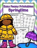 Spring Printables with Craftivity and Emergent Reader