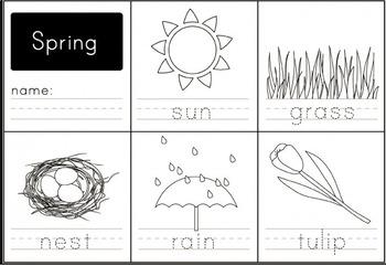 Spring Printing Worksheet