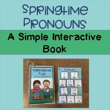 Spring Pronouns Interactive Book