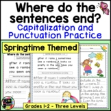 Spring Writing Capitalization and Punctuation Practice   Digital and Print