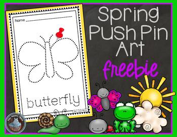 Spring Push Pin Art FREEBIE