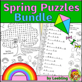 Spring Puzzle Activities Bundle - Crosswords, Word Searches and More