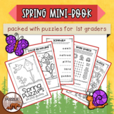 Spring Puzzle Mini Book for First Graders