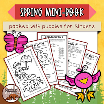 Spring Puzzle Mini Book for Kinders