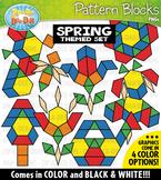 Spring Puzzle Pattern Blocks Clipart {Zip-A-Dee-Doo-Dah Designs}