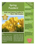 Spring Puzzlers!  9 Literacy and Math Puzzles for 3rd - 5th Grade