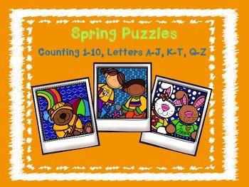 Spring Puzzles Freebie