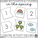 Spring Puzzles - Self Correcting (Counting & Number Recognition 1-20)