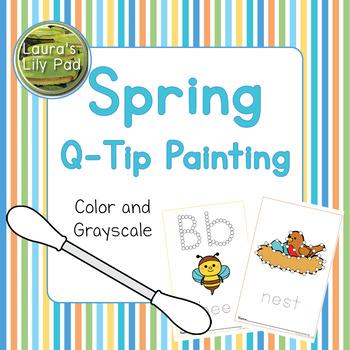 Spring Q-tip Painting