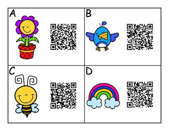 Spring QR Activity Subtraction to 10