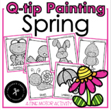 Spring Qtip Painting and Build a bunny Writing Page