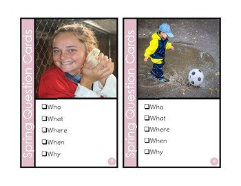 Spring Photo Question Cards