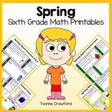 Spring No Prep Common Core Math (6th grade)