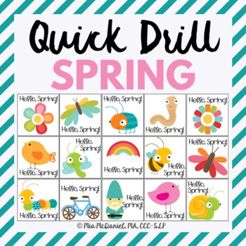 Spring Quick Drill {for articulation or fluency therapy & RTi}