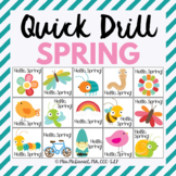 Quick Drill for Spring {for speech therapy or any skill drill}