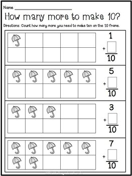 Spring Math and Literacy Worksheets Free