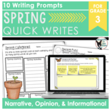 Spring Quick Writes 10 Prompts Ready to Print and Write