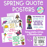 Spring Quotes Posters- Melonheadz clip art  *Color and ink