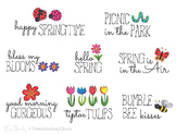 Spring Quotes | Word Art Titles | Hand Drawn Digital Drawings