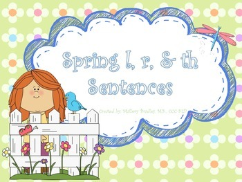 l, r, th Spring Artic/Language Sentences & Activities for