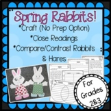 Spring Rabbit  Craft, Close Readings and Writing Activities