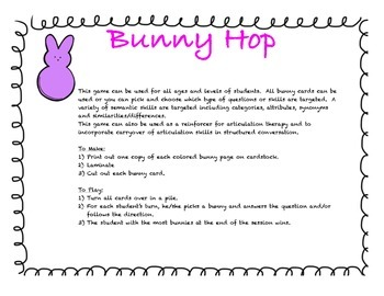 Spring Rabbit Language game