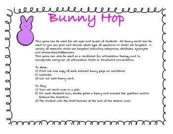 Spring Rabbit Language game