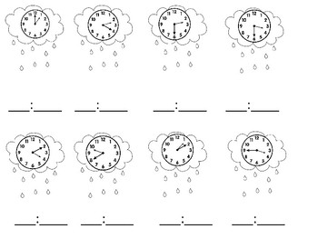 Spring Rain Clocks and Coins