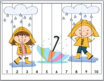 Spring Math Number Puzzles