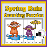 Spring Math Number Puzzles for Kids