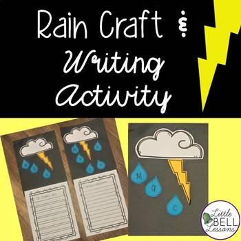 Spring Rain Craft Writing Activity