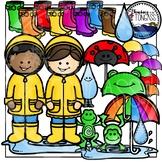 Spring Rain Kids Clipart