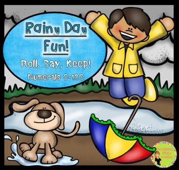 "Spring Rain: Numerals ""Roll, Say, Keep"" 0-120"