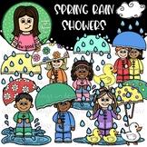 Spring Rain Showers Clip Art