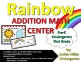 Rainbow Addition Math Center - Spring