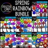 Spring Rainbow Bundle: Spring Clipart {Creative Clips Clipart}
