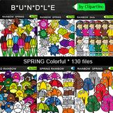 Spring Rainbow Clipart Bundle