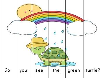 Spring Rainbow Sentence puzzles