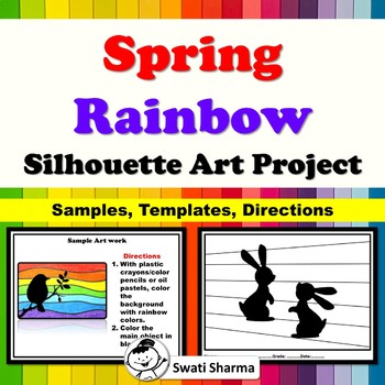 Spring Rainbow Silhouette Art Project