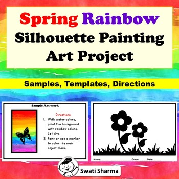 Spring Rainbow Silhouette Painting Art Project