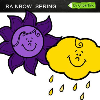 Spring Rainbow clipart