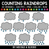 Spring Raindrop Counting Clipart