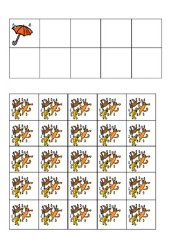 Spring Raining Cats and Dogs Ten Frames Games