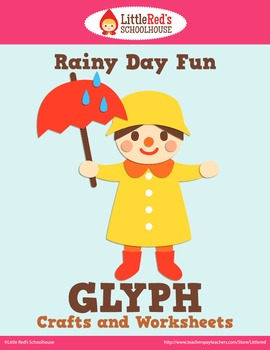 Spring Rainy Day Fun Glyph Craft and Worksheets