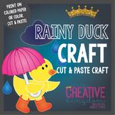 Spring Rainy Umbrella duck (Glyph) Craft